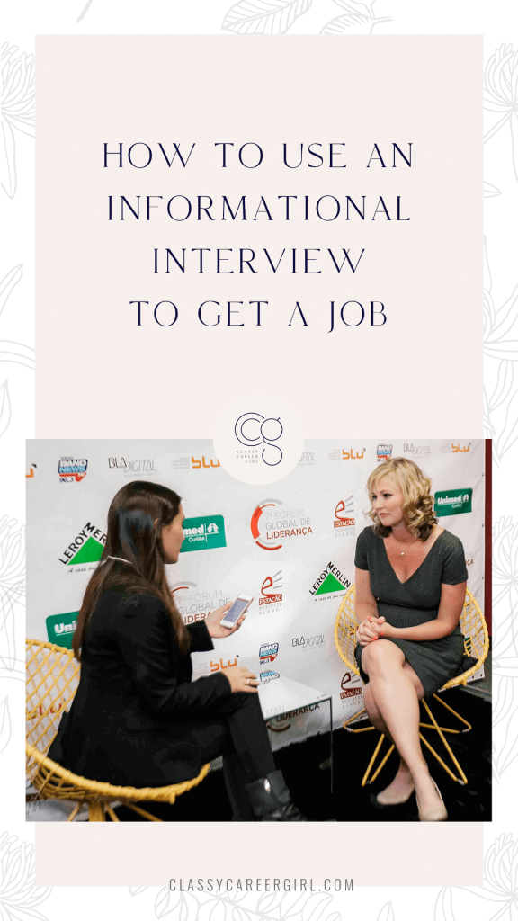 How To Use an Informational Interview To Get a Job - CCG