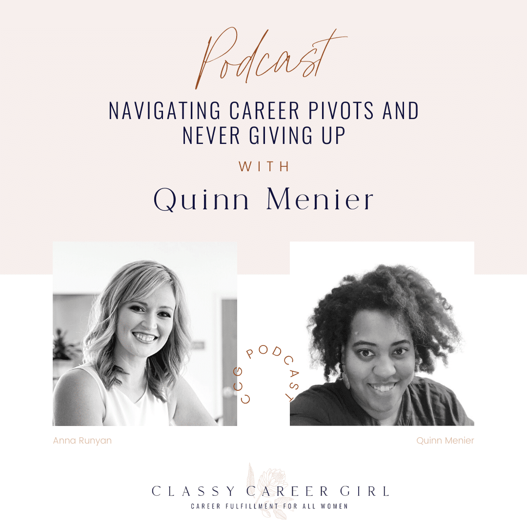 Navigating Career Pivots and Never Giving Up With Quinn Menier