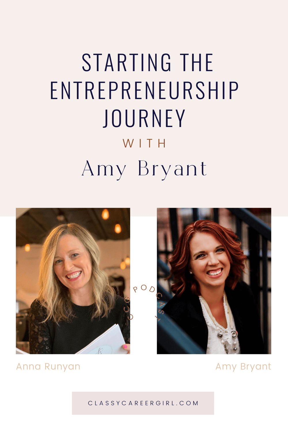 Starting The Entrepreneurship Journey with Amy Bryant - CCG Pin